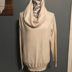 Gap Size Large Ivory Cowl Neck Sweater